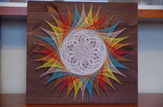 All Black Fashion, Abstract Wall Art, Large Wall Art, String Art, Mandala, Sketches, Creative, Diy, Nail String Art