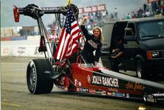 Lori Johns - beautiful blonde top fuel NHRA drag racing queen