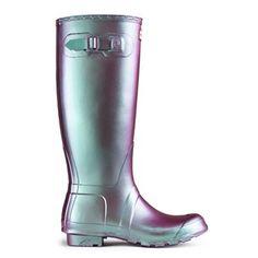:: original pearlescent hunter rain boots ::