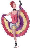 Cancan Pictures. Illustrations on the subject infernal gallop, can can dancer. Free graphics, gratis cliparts. Cancan Bilder. Illustrationen zum Thema Cancan, Höllengalopp, Coup de cul, Tänzer und Tänzerinnen. Freie Grafiken. http://www.lunabaer.de/lb_english/cancan.html