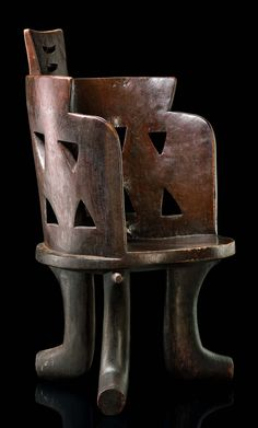 Africa | Chair/stool from the Gurage people of Ethiopia | Wood