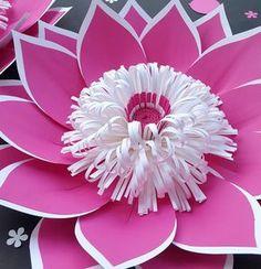 Loopy SVG corte de centro de flores de papel archivo - patrón de centro de flores de papel, flor de papel DIY.