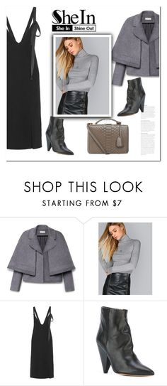 """SHEIN Grey Turtleneck"" by bliznec ❤ liked on Polyvore featuring Tory Burch, By Malene Birger, Étoile Isabel Marant and Mark Cross"