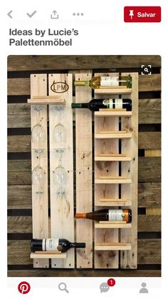 Pallet Walls, Pallet Boards, Pallet House, Diy Wood Projects, Pallet Crafts,