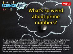 Prime Numbers, Science News, In A Heartbeat, Mathematics, Thankful, Mindfulness, Facts, Life, Math
