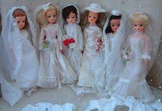 Vintage Sindy bridal CHOOSE bride 60s bridesmaid wedding dress veil - NO DOLLS | eBay Wedding Dress With Veil, Wedding Dress Styles, Bridal Dresses, Flower Girl Dresses, Sindy Doll, Bride Dolls, Night Outfits, Wedding Bridesmaids, Vintage Dolls