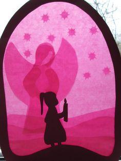 Fensterbild,Kommunion,Mädchen,Waldorf,Transparent von Puppenprofi auf DaWanda.com