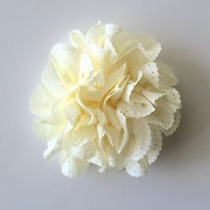 """ONE 3""""  Large Ivory Eyelet Fabric Flower-Applique-hairbow supplies-diy wedding-crafts-scrapbook-headband supplies-wholesale Flowers-Bulk by BBBSupply on Etsy"""