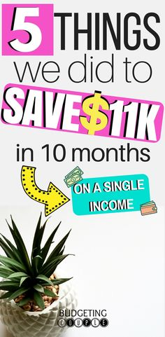 Want to know how to save money? Check out the 5 money saving tips we used to save over $11K in 10 months on a single income!  Learn how to save money easily with these saving money tips!  Budgeting Couple | Budgeting Couple Blog | BudgetingCouple.com #savemoney #savingmoney #budgetingcouple