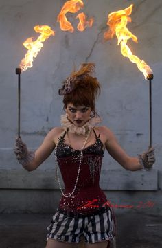 Circus- Love the gloves!!! I'm also digging the corset with those shorts for whatever reason.