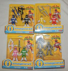 NEW Imaginext Power Rangers Pink Green Red Yellow Blue Black Putty Patrol #FISHERPRICE