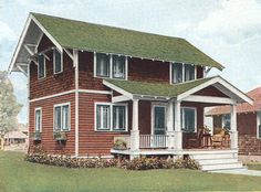 Colors On Houses With Two Types Of Cladding Old House Colors House Paint Exterior Green Roof House Green Roof