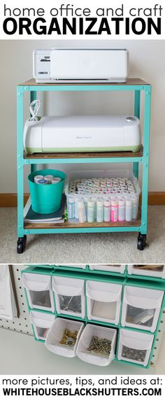 Office and craft room storage printer cart organize for Michaels craft storage cart