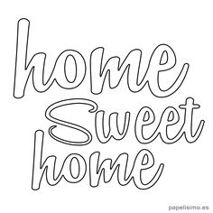 Letras home-sweet-home-hogar-dulce-hogar-diy letras – Elfrieda Weissnat – Diy Home Hand Embroidery Patterns, Embroidery Designs, Embroidery Art, String Art Templates, Sweet Home, Wood Burning Patterns, Home Icon, Porch Signs, Frases