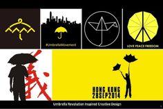Umbrella Revolution Inspired Creative Design by 文堯 王 via slideshare