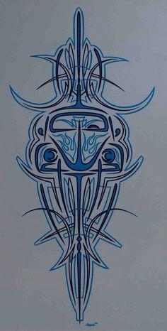 images about pinstriping Lobo Tribal, Vw Tattoo, Pinstripe Art, Pinstriping Designs, Vw Vintage, Geniale Tattoos, Garage Art, Airbrush Art, Automotive Art