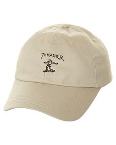 THRASHER OLD TIMER STRAPBACK CAP - TAN
