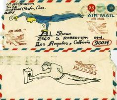 H. C. Westermann's hand drawn envelope