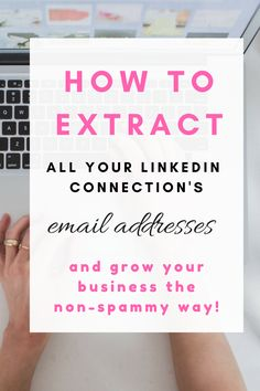 's email addresses and grow your business the non spammy way Make More Money, Make Money Blogging, Email Marketing, Content Marketing, Online Income, Blogger Tips, New Things To Learn, Business Advice, Blogging For Beginners