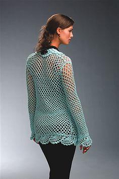 Cut-Away Cardi pattern by Lisa Gonzalez