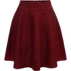 Full Circle Mini Skirt Alexander McQueen | Skirt | Trousers Skirts |