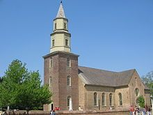 Bruton Parish Church in Colonial Williamsburg, established in 1674. The current building was completed in 1715.