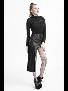 T-420 PUNK RAVE Slim Women high collar Skull t-shirt Wholesale steampunk