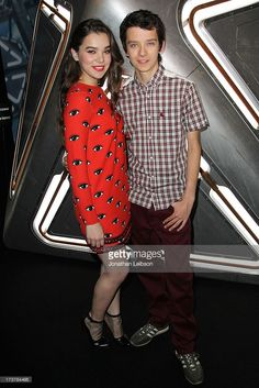 Hailee Steinfeld and Asa Butterfield attend the 'Enders Game' Exclusive Fan Experience Press Preview Night - Comic-Con International 2013 on July 17, 2013 in San Diego, California.