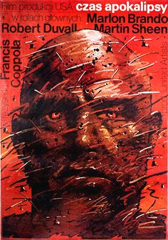 APOCALYPSE NOW / Czas Apokalipsy Original Polish movie poster American film director: Francis Ford Coppola actors: Martin Sheen, Marlon Brando, Lawrence Fishburne, Robert Duvall, Dennis Hopper