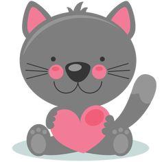 Daily Freebie 2-6-15: Miss Kate Cuttables-- Cute Valentine Kitty scrapbook cuts SVG cutting files doodle cut files for scrapbooking clip art clipart doodle cut files for cricut free svg cuts