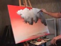 Time Lapse landscape painting Red Sky, Clouds, by Tim Gagnon - YouTube
