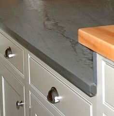 Slate countertops = different and kinda sexy
