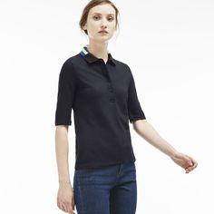 Women's Half Sleeve Multi Print Collar Polo