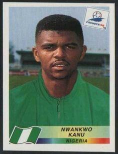 Nwankwo Kanu, Nigéria. Figurinha da Copa do Mundo da França em 1998.