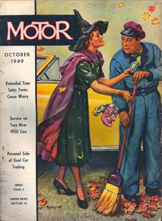 Vintage Halloween Magazine ~ Motor © October, 1949