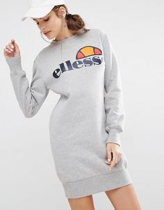 Shop Ellesse Sweat Dress With Front Logo at ASOS. Ellesse, Tall Dresses, Cotton Dresses, Shakira, Asos, Sweat Dress, Oversized Dress, Adidas Outfit, Nike Sweatshirts