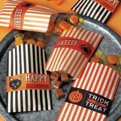 New to the Shop :: Halloween Paper Treat Bags! $5.50