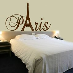 Paris Tower Girls Room Wall Decal Home Decor Vinyl Lettering Wall Saying Sticker Viny