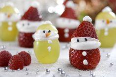 Papai Noel de Morango para o Natal
