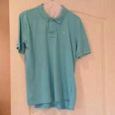 Boys polo shirt Boys Aqua blue polo shirt with bright yellow Polo insignia Polo by Ralph Lauren Tops