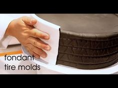 How to make a Fondant Tire Cake perfect for Groom's Cake.