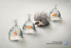 Park Assist Ad by Volkswagen | repinned by www.BlickeDeeler.de | Have a look on www.Printwerbung-Hamburg.de