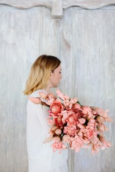 Torch Ginger Flowers. Photo by Luisa Brimble for Villa Sungai & Natalie Hayllar of Eat Read Love. Model: Lisa Madigan.