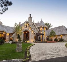 Custom Home Curb Appeal Dream Home Design, My Dream Home, House Design, Architecture Design, Luxury Homes Dream Houses, Dream Homes, Dream House Exterior, House Goals, Curb Appeal