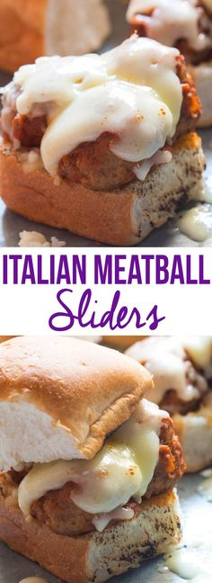 Easy, cheesy italian meatball sliders! Perfect for weeknight dinner and game days. Kid friendly recipe.