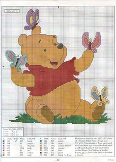 Winnie the Pooh disney orsetto baby punto croce
