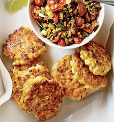 Corn Fritters recipe in Self mag
