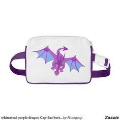 whimsical purple dragon Cap-Sac butt bag Fanny Packs