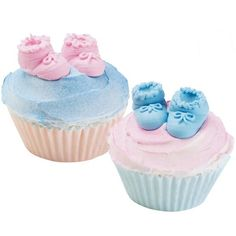 Baby Booties - The perfect little topper for your baby shower cupcakes. done with a #2 tip and #12 wilton