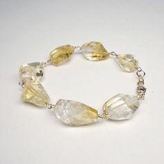 Gemstone Bracelet. Citrine and 14k Gold Filled, Gift for Her, Birthday £29.00